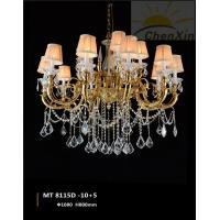 China Crystal Water Drop Luminaire Chandelier Pendant Lights Lace Glass Lampshade wholesale
