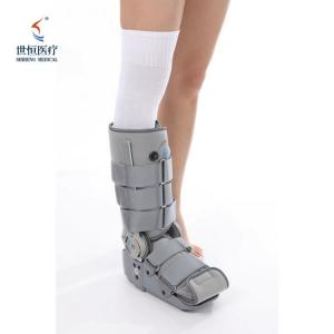 China Automatic adjustable foot ankle brace S-XL size foot splint in black/grey color wholesale