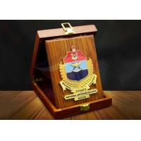 China Square Custom Trophy Awards Wood Gift Box Package As Company Decorations wholesale
