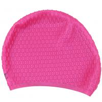 China Rose Red Swimming Cap , Personalized Swim Cap That Keeps Hair Completely Dry wholesale