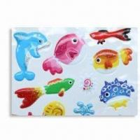 China Puffy Stickers with Soft Transparent PVC, Available in Various Sizes wholesale