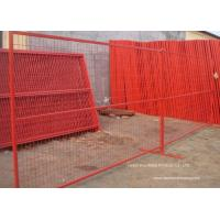 China PVC Coated Temporary Construction Fence Canada Standard 10x6 FT Event Movable Fence wholesale