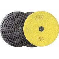 China 100mm 4 Inch Diamond Wet Resin Polishing Pads High Efficient disc wholesale