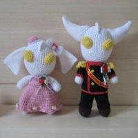 China Crochet Doll Toy, Made of 100% Mercerized Cotton Thread on sale