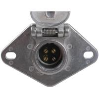 China Metal Trailer Electrical Socket , 4 Pin Trailer Connector With Lid wholesale