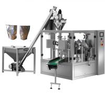 China Automatic powder dispensing machine milk pouch packing machine,Paper bag Powder filler premade pouch filling sealing mac wholesale