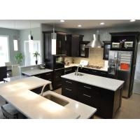 L Shape Custom Stone Kitchen Countertops Eased Edge Granite Kitchen Tops