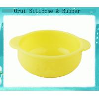 China Phthalate free yellow silicone food containter  for baby wholesale