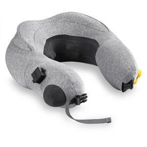 China Inflatable Travel Shiatsu Massage Pillow Convenient Folding 3 Level Kneading Massage wholesale