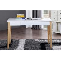 China Long Light Colored Office Modern Wood Table Desk With File Drawer wholesale