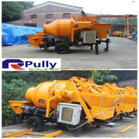 China Pully JBT40-P1 concrete pump with mixer, mixer concrete pump, universal concrete mixer machine wholesale