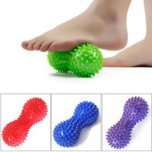 China Peanut Shape Shiatsu Foot Massager Yoga Fitness Ball PVC Material Size 150 * 70 * 70 Mm wholesale