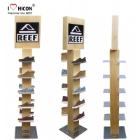 China Professional Shoes Display Fixture Modern Wooden Shoe Display wholesale