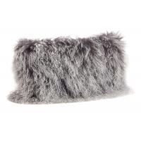 China Tibetan Sheepskin Sofa Pillow Covers 10-15cm Long Curly Hair For Bed / Sofa / Chair on sale