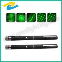 China 5 mw -200 mw  green laser pointer pen with 5 changeable heads wholesale