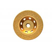 China Vacuum Brazed Diamond Cup Wheel For Concrete Stable Performance With Thread Arbor on sale