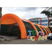 China Giant Orange Inflatable Tents Outdoor Playground Paintball Field Event Tent wholesale