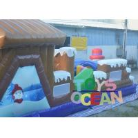 Quality 0.55mm PVC 12 * 4 * 5 Snowman Obstacle Course Inflatable Rentals For Kids for sale