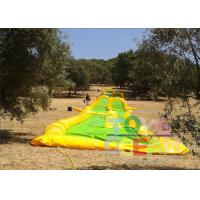 China Yellow Inflatable Slide The City Water Park / Inflatable Outdoor Games For Party wholesale