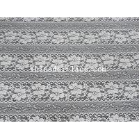 China Delicate Flower Striation Spacing Stretch Lace Fabric With Nylon Spandex Material For Dress SYD-0173 wholesale