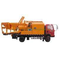 Quality 300L Oil Tank Cement Pumping Machine , Truck Mounted Concrete Pump With Batcher for sale
