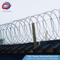 Buy cheap Low Carbon razor Barbed Wire length 10m-65m  for Highway Protection from wholesalers