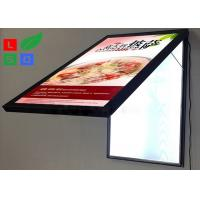 China Door Open LED Light Box Sign , Size A2 Lockable Poster Frame For Restaurant wholesale
