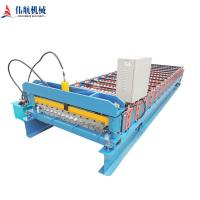 China China manufacture full automatic Color steel Metal Roof sheet roll forming machine wholesale