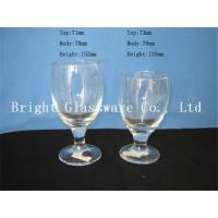 China clear Water Goblets, wine goblet glass sale wholesale