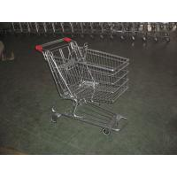 China European Type Supermarket Shopping Carts with PU casters , shopping trolley cart wholesale