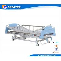 Double Rocker Manual medical adjustable bed with Aluminum alloy handrail for Clinic
