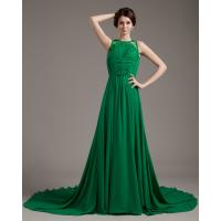 China unique Sleeveless girls Evening Party Dresses / prom dresses with long trains wholesale