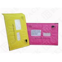China Custom Made Recycled Kraft Bubble Mailer Green / Pink With Window wholesale