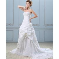 China Chic Open back couture Long Train Wedding Dresses / Embroidery Satin wedding gowns wholesale
