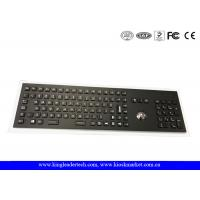 China Industrial Electroplated Black Metal Keyboard With Full Keys, Trackball and Backlight on sale