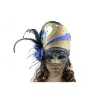 """China Mask with veil for Masquerade     9.25"""" MF032 wholesale"""