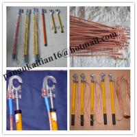China Copper grounding rod&earth rods,Short-circuit Grounding operation Pole wholesale