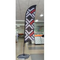 China Advertising Promotional Feather Flags Printing , Full Color Feather Swooper Flags Durability wholesale