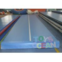 China Blue Exercise Inflatable Gymnastics Air Track For Sports Center wholesale