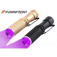 China Black Light 365NM LED Flashlight with Belt Clip , 395NM Uv Light LED Detector Lamp wholesale