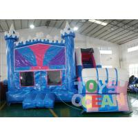 China 18OZ 0.55mm PLATO PVC Kids Inflatable Castle Bounce House With Slide Panel wholesale