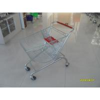 Quality Coloful Powder Coating Metal Shopping Trolley 4 Flat Swivel Casters for sale