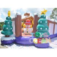 China PVC Vinyl Tarpaulin Snowman Inflatable Bounce House Children Amusement  Park wholesale