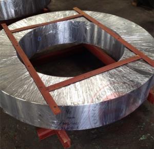 China Open Die Alloy Steel Forgings DIN ASTM EN Hot Rolling Ring Steel Flange wholesale