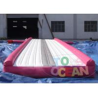 China Pink Outdoor Gymnastics Air Mat  / Inflatable Tumble Track Safe For Adults wholesale