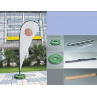 Quality Silk Screen Printing Custom Teardrop Flags Signs For Advertising Single Sided for sale