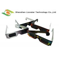 China Colorful Printing Paper Passive 3D Glasses Solar Eclipse Glasses Custom Brand Logo wholesale