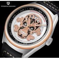 China PAGANI DESIGN Full automatic mechanical watch Skull Dial Calendar Display Waterproof Leather Watch  PD-1630 wholesale