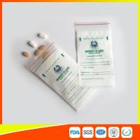 China LDPE Clear Medical Ziplock Pill Bags For Hospital / Drugstore Disposable wholesale