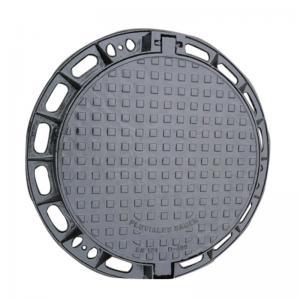China Ductile Iron Casting Iron Manhole Cover EN124 D-400 C250 Round Type Manhole Cover wholesale